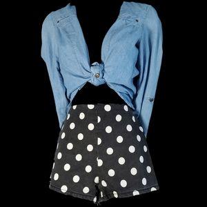 Forever 21 | 27 | black polka dot shorts